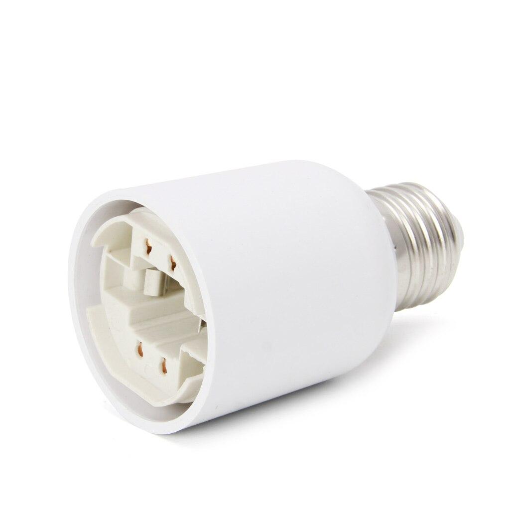 C18+E27 To G24 Base LED Halogen Light Lamp Bulbs Socket Adapter Converter
