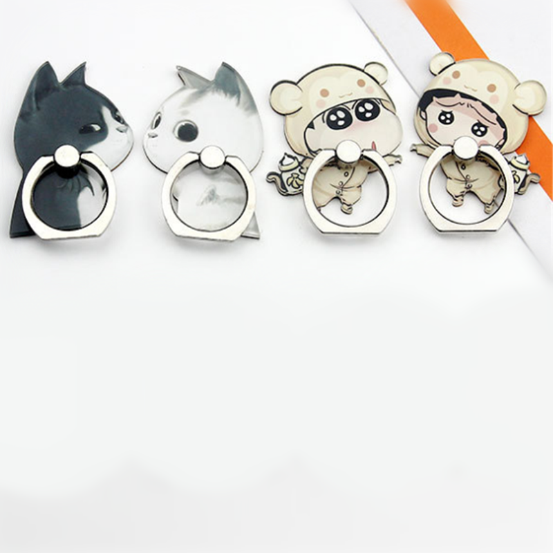 UVR 360 Degree Cartoon Animal Mount Finger Ring Smartphone Stand Holder Mobile Phone Cute Cat Holder Stand For IPhone All Phone