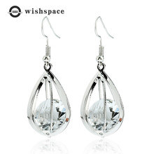Personality exquisite zircon crystal droplets metal earrings jewelry fashion woman