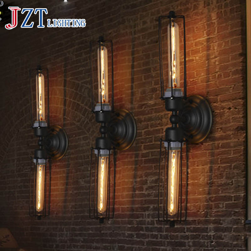 T Loft Retro Industrial Wall Lamp For Bar&Coffee Shop&Restaurant American Style Iron Bedside Lighting Corridor Aisle Light цена и фото