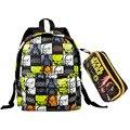 Personaje estrella de la lona bolsa de la escuela de guerra juego de niños de kindergarten mochila set little kids fashion del bolso de escuela lindo mochila escolar