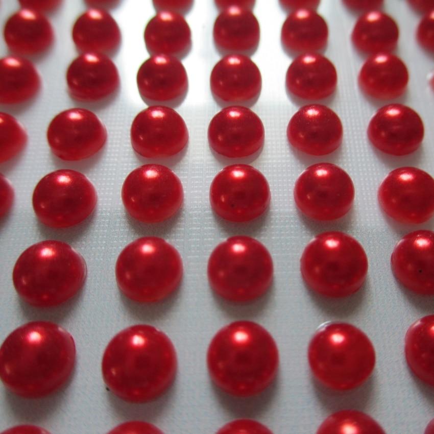 10 listů nálepka 5mm celkem 3000ks perly smíšené barvy Scrapbooking Fotoalbum deník mobilní telefon iPad PC svatební přání domácí diy