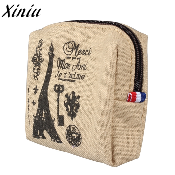 Coin Wallet Womens Vintage Mini Wallet Letter Printing Coin Purse Card Holders New Fashion Clutch Handbag Porte Monnaie #7321