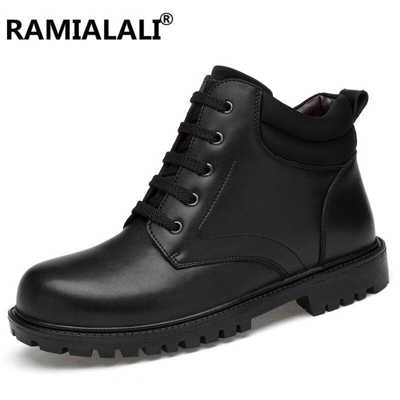 sale retailer fa817 103f7 With No Hombre Genuino Calidad Fur Invierno Casual Hombres Impermeable  Black Ramialali Tobillo De Zapatos Alta ...