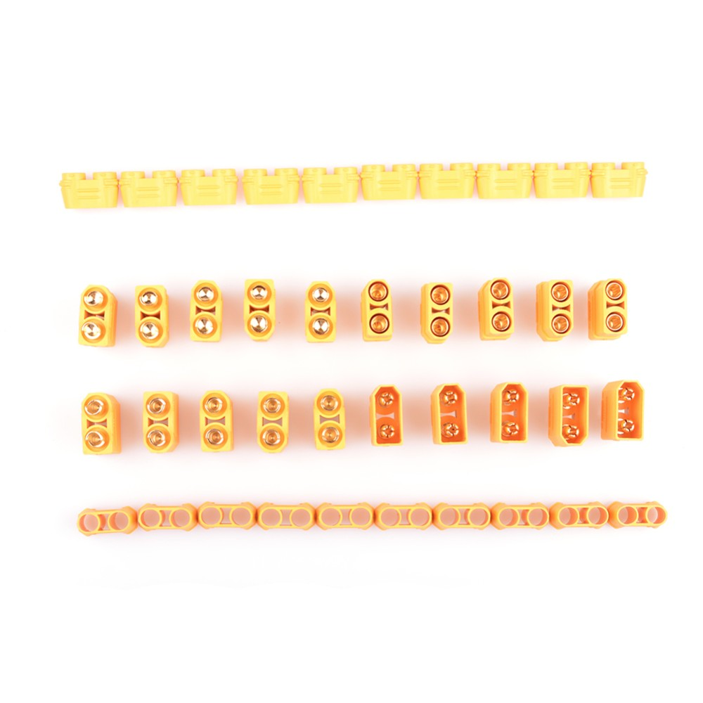 10 пар Amass XT30 XT60 XT90 XT-30 XT-60H мужской женский пули Разъемы набор пробок Запчасти для RC Lipo батареи FPV Дрон