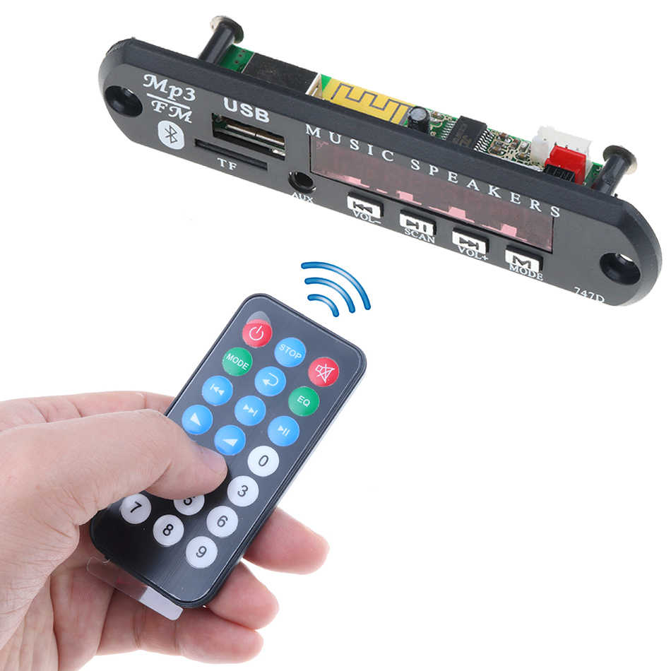 Auto KFZ Bluetooth MP3 Decoder Modul WMA FM AUX Audio Radio TF SD Card USB 12V
