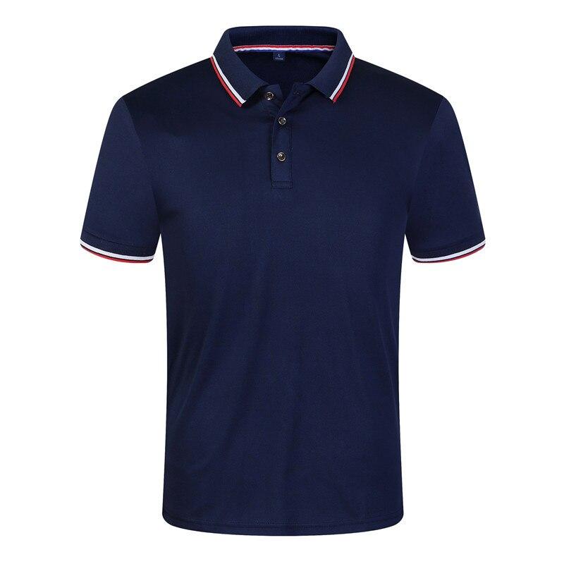 New 2019 Solid Color New Men's   Polo   Shirt Men Cotton Short Sleeve shirt Casual jerseys Plus Size 100