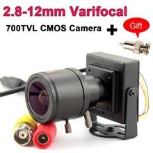 700TVL varifocal עדשת מיני מצלמה 700TVL מתכוונן עדשה + RCA מתאם עבור אבטחת מעקבים טלוויזיה במעגל סגור מצלמה עקיפת רכב