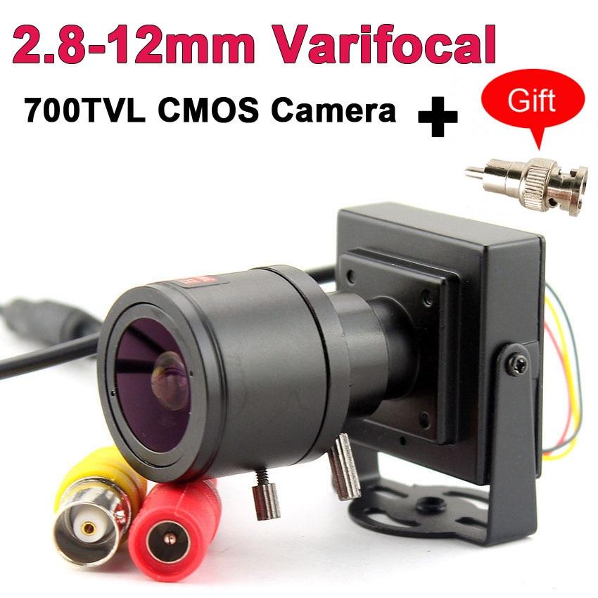 700TVL varifocal lens mini camera 700TVL Adjustable Lens+RCA Adapter For Security Surveillance CCTV Camera Car OvertakingSurveillance Cameras   -
