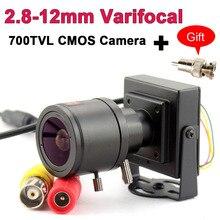 700TVL varifocal lens mini kamera 700TVL ayarlanabilir Lens + RCA adaptörü için güvenlik cctv güvenlik kamerası araba sollama