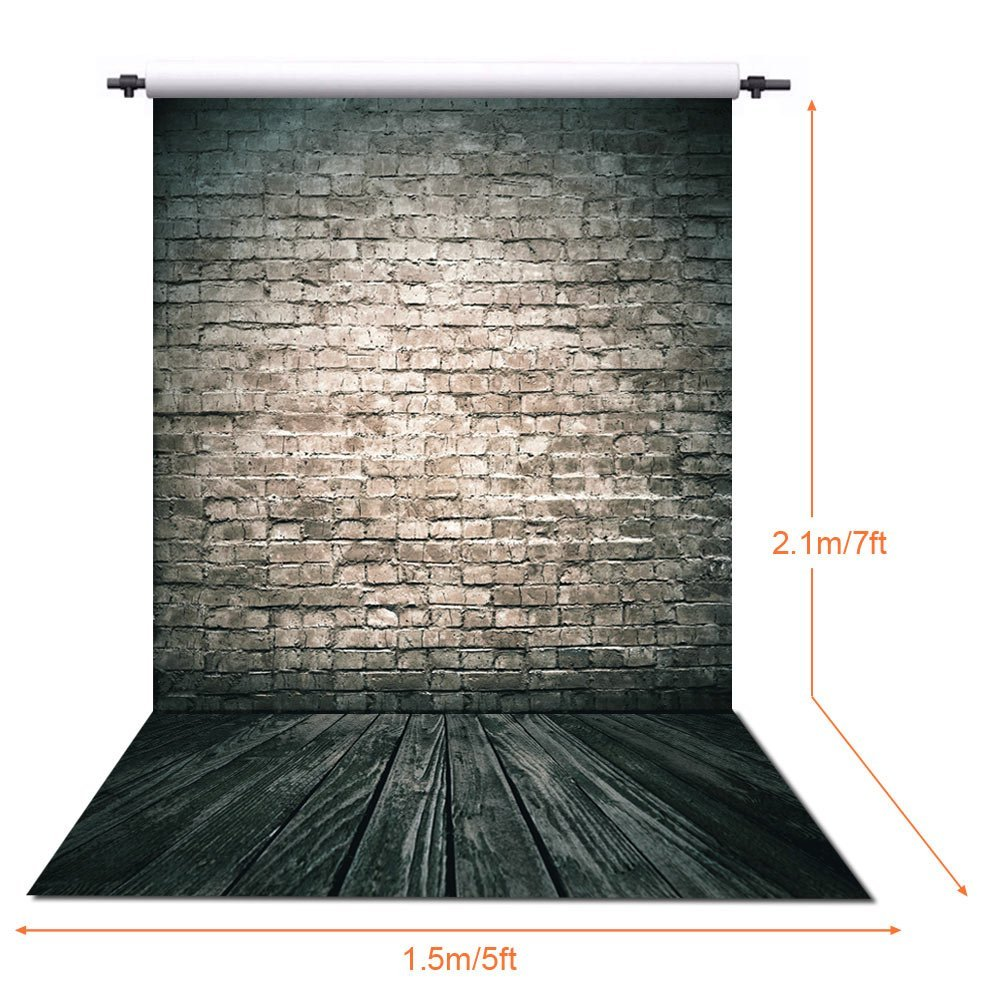 Image 2 - 150X210CM Photography studio Green Screen Chroma key Background Polyester Backdrop for Photo Studio Dark Brick YU002-in Background from Consumer Electronics