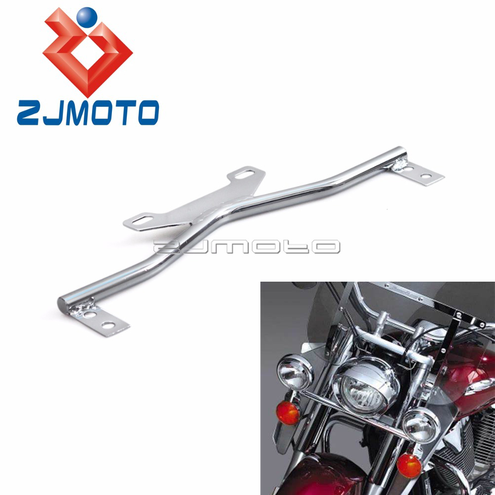 Universal Motorcycle Turn Signals Fog Light Mount Bar Auxiliary Light Bracket For Harley Honda Suzuki Yamaha Touring Cruiser|headlight bracket|bar bar|bar brackets - title=