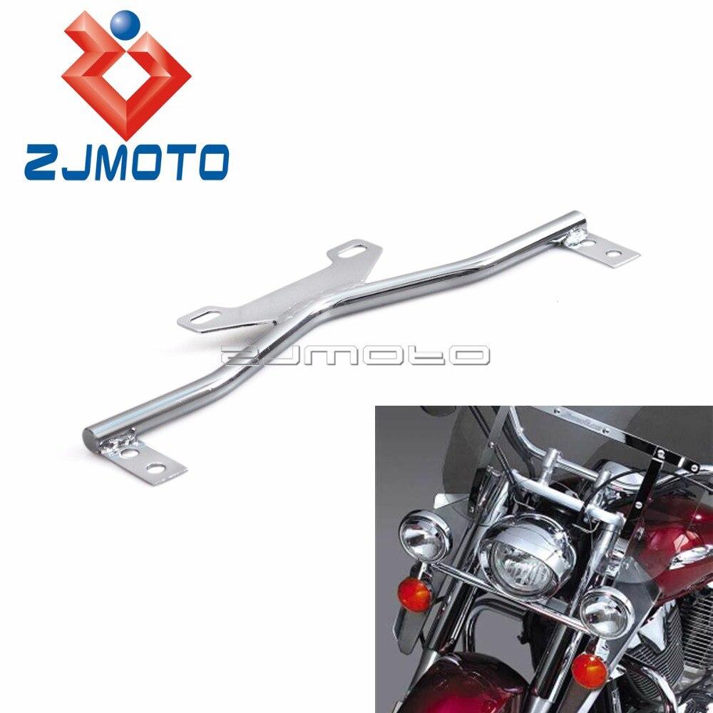 Universal Motorcycle Turn Signals Fog Light Mount Bar Auxiliary Light Bracket For Harley Honda Suzuki Yamaha Touring Cruiser