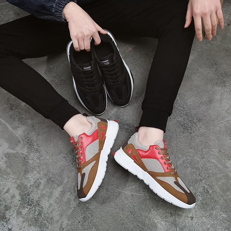 Das Preto Sapatos Casuais Da Sapatilhas Homens Marca red brown Masculinos Rxvc1d1n
