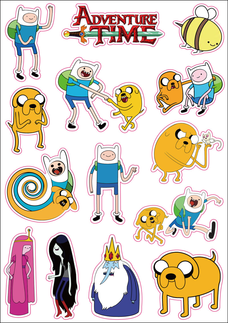 Adventure Time Cartoon Waterproof Sticker Finn Jake