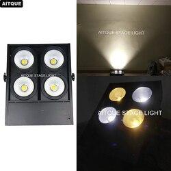 Profesjonalne oświetlenie sceny cob 4 oczu publiczności światło led cob blinder 4x100 w ciepły biały i zimny biały reflektor teatr|Oświetlenie sceniczne|   -