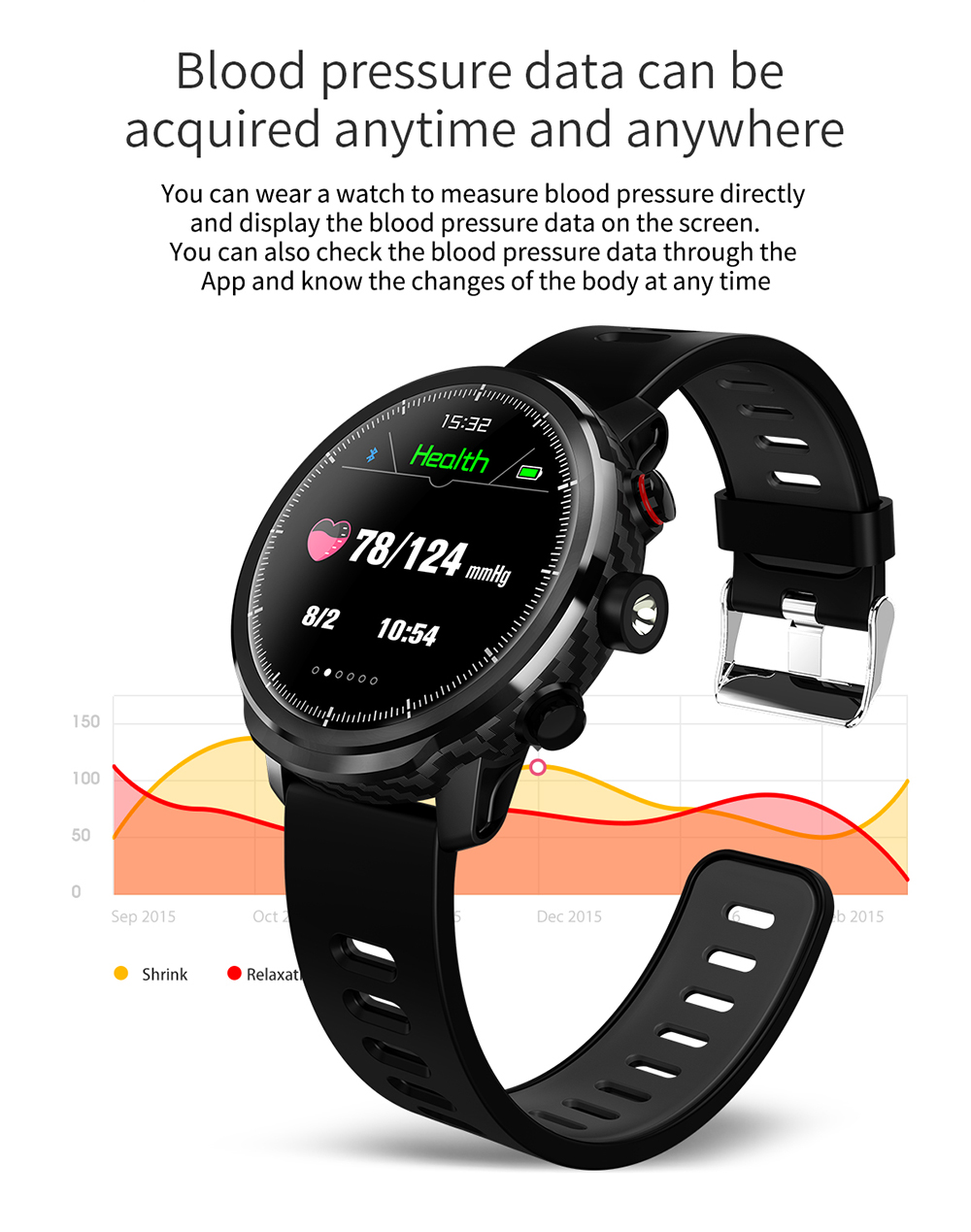 LEMFO L5 IP68 Waterproof Smart Watch For Men With Sports Mode Heart Rate Monitoring And Weather Forecast 9