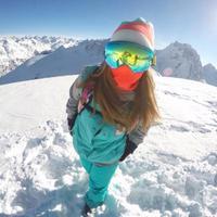Nice Skiing Mirror Snowboarding Goggles Double Layer Len Ski Googles Men Spherical Ski Eyewear Can Hold