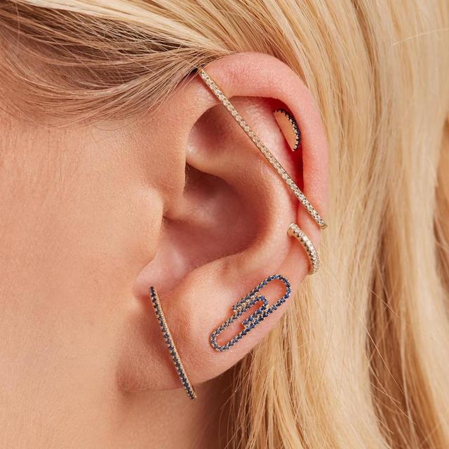 fashion women jewelry 1 piece ear cuff no piercing ear clip white rainbow cz rectangle cuff.jpg 640x640 - fashion women jewelry 1 piece ear cuff no piercing ear clip white rainbow cz rectangle cuff earring