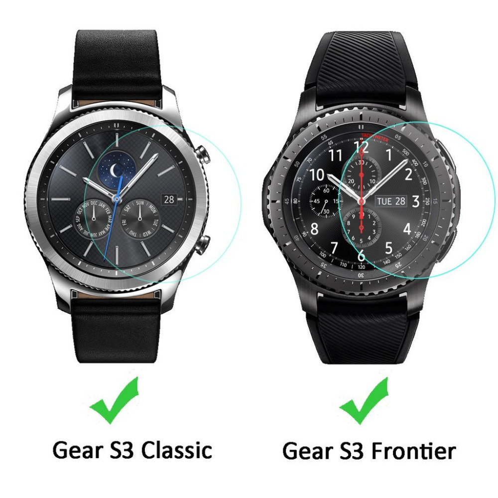 For Samsung Gear S3 Classic SmartWatch Clear Tempered Glass Screen Protector Ultra Thin Explosion-proof Protective Film watch protector film for samsung gear s3 frontier classic s2 protector screen 9h 2 5d tempered glass for samsung gear s 3 2