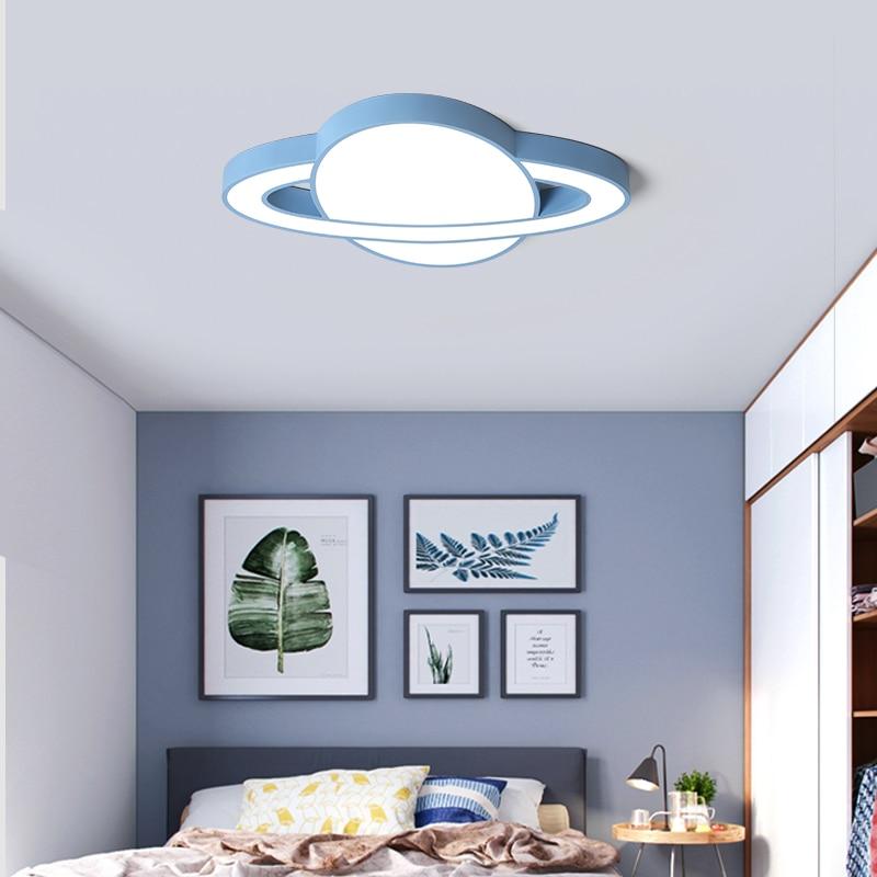 Us 76 16 32 Off Dar Macaron Kids Bedroom Light Ceiling Blue Yellow Pink White Led Modern Lamp Child Room 5cm Lights In
