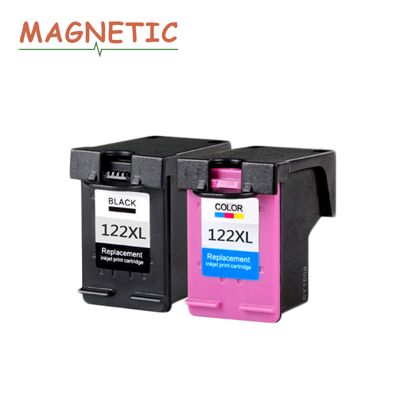 2Pcs Magnetic Compatible Ink Cartridge for HP122 for HP 1000 1050 2000 2050 1510 3050 3000 3050A For <font><b>hp122xl</b></font> Printer 122 image