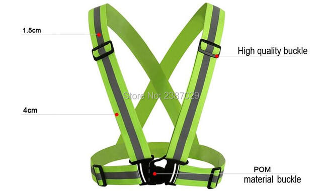 Reflective safety clothing with high visibility tape 100% polyester yellow safety vest reflective cycling