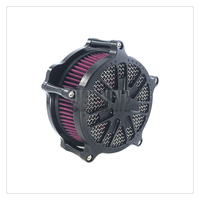 Matte Grill Air Cleaner Intake Air Filter For Harley XL Sportster 04 19 Dyna FXDLS 2017 FLSTNSE 14 15 Softail 00 18 Touring