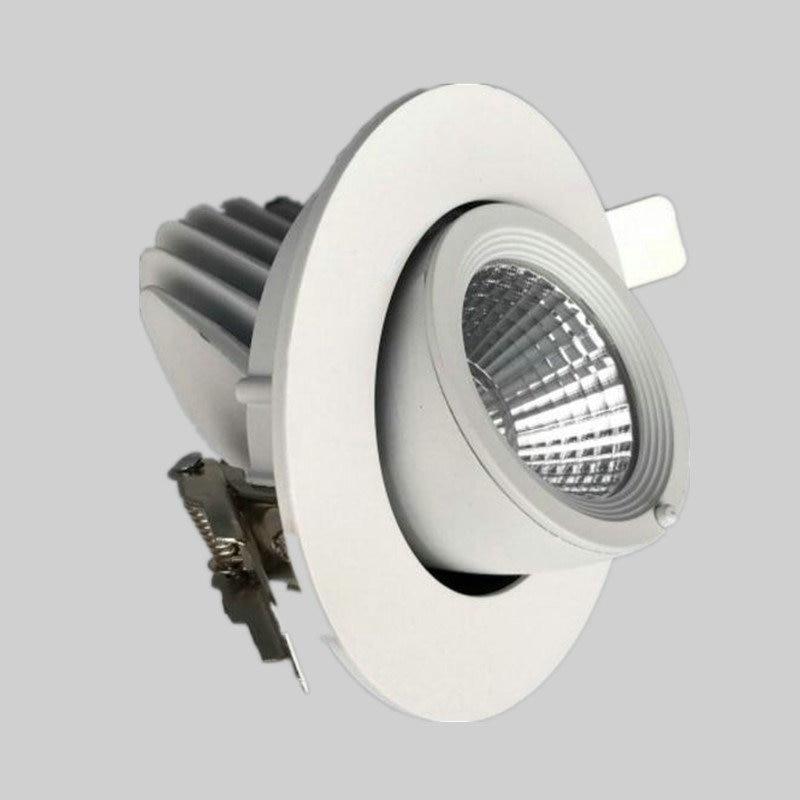 12W 15W CREE COB LED downlights LED Ceiling Spot light 360 degree Rotation Ceiling Downlight White AC85-265V Free shipping