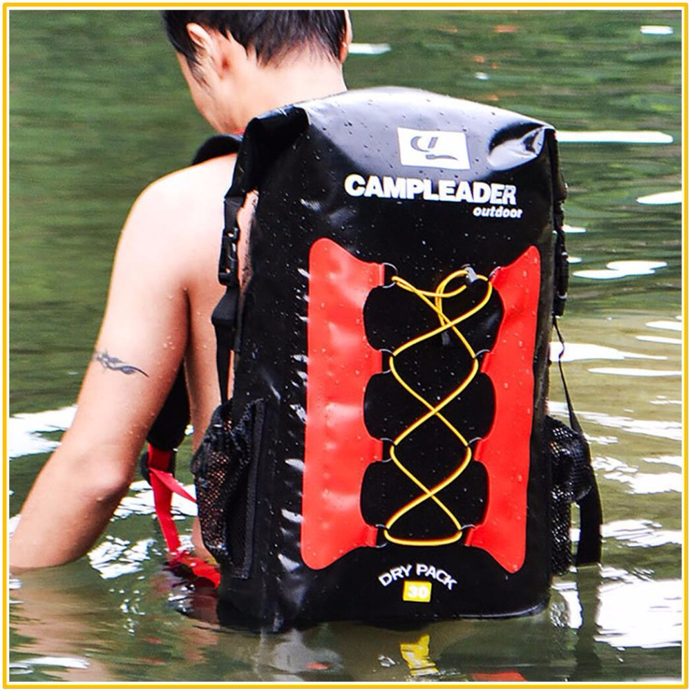 Calidad 30L bolsas a prueba de agua de almacenamiento Dry Sack bolsa para Canoa Kayak Rafting deporte al aire libre de la piscina bolsas Kit de viaje mochila - 2