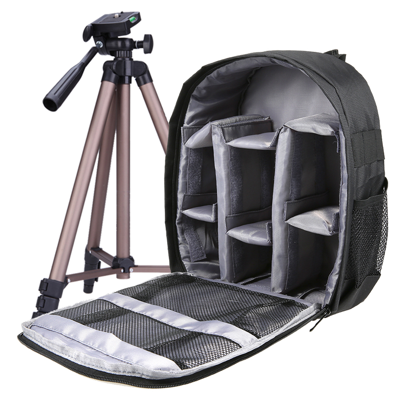 Andoer DSLR Camera Bag Outdoor Small Camera Video Backpack Water-resistant Multi-functional Breathable Camera Bags