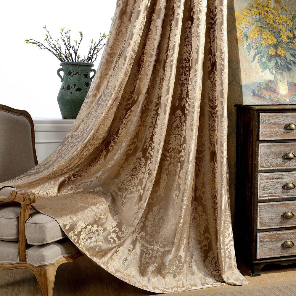 Jacquard European Design Classic Style Curtain Panel For Living Room Or Bedroom Window Custom Made
