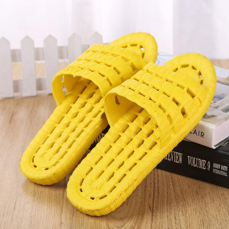 THINKTHENDO 4 Color Bath / Shower / Spa Womens Plastic Soft Slippers Casual Style Flat Sandals