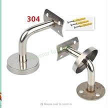 Solid Stainless steel handrail Bracket/Stent/support,wall support,Curved/Arcuate Fixed pallet,Round handrail,Stairs accessories
