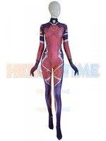 Cosplay Costume 3D Print pink skin Zentai Catsuit Halloween Sombra Cosplay Costumes Lycra Spandex Game Suit