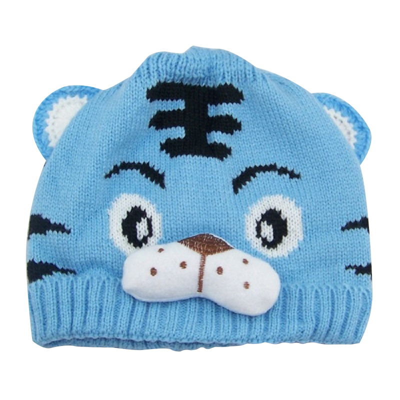 VBIGER Children Baby Skullies Beanies Winter Warm Knitted Hat Kids Cap with Tiger Pattern skullies