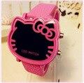 Новые Моды Дети Цифровые Часы Девушки Мультфильм Hello Kitty Led Наручные Часы Лучшие Подарки