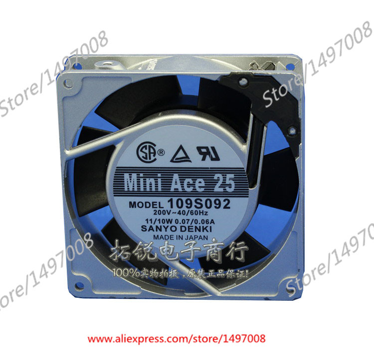 Free Shipping For Sanyo 109S092 AC 200V 11W/10W, 2-pin 90x90x25mm Server Square fan free shipping for adda aa8382hb aw s ac 220 240v 0 07 0 06a 2 pin 80x80x38mm server square fan free shipping