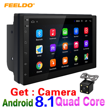 "FEELDO 7"" Ultra Slim Android 8.1 Quad Core Car Media Player With GPS Navi Radio For Nissan/Hyundai All 2DIN ISO Size Head Unit"