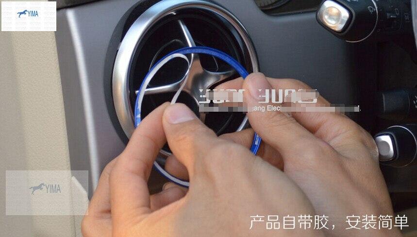 Accessoires Pour Mercedes-benz GLK 260 300 350 2013 2014 Métal Évent Évent De Sortie Bague Garniture Autocollant 4 pièces/ensemble