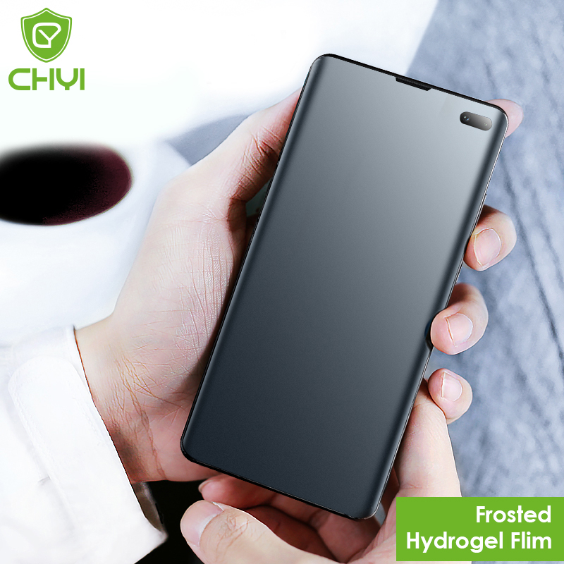 CHYI Curved For Samsung S10 Plus Screen Protector Matte Hydrogel Film For Galaxy Note 10 5G S8 S9 Plus Screen Protector Not Temp