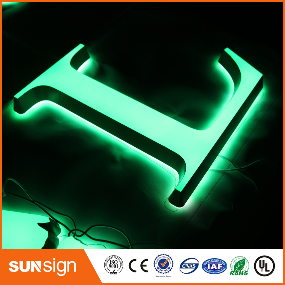 New Type Mini Acrylic Channel Letter Custom Make Illuminated Street Signs