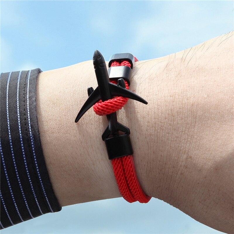 Fashionable Men's Airplane Shaped Bracelet