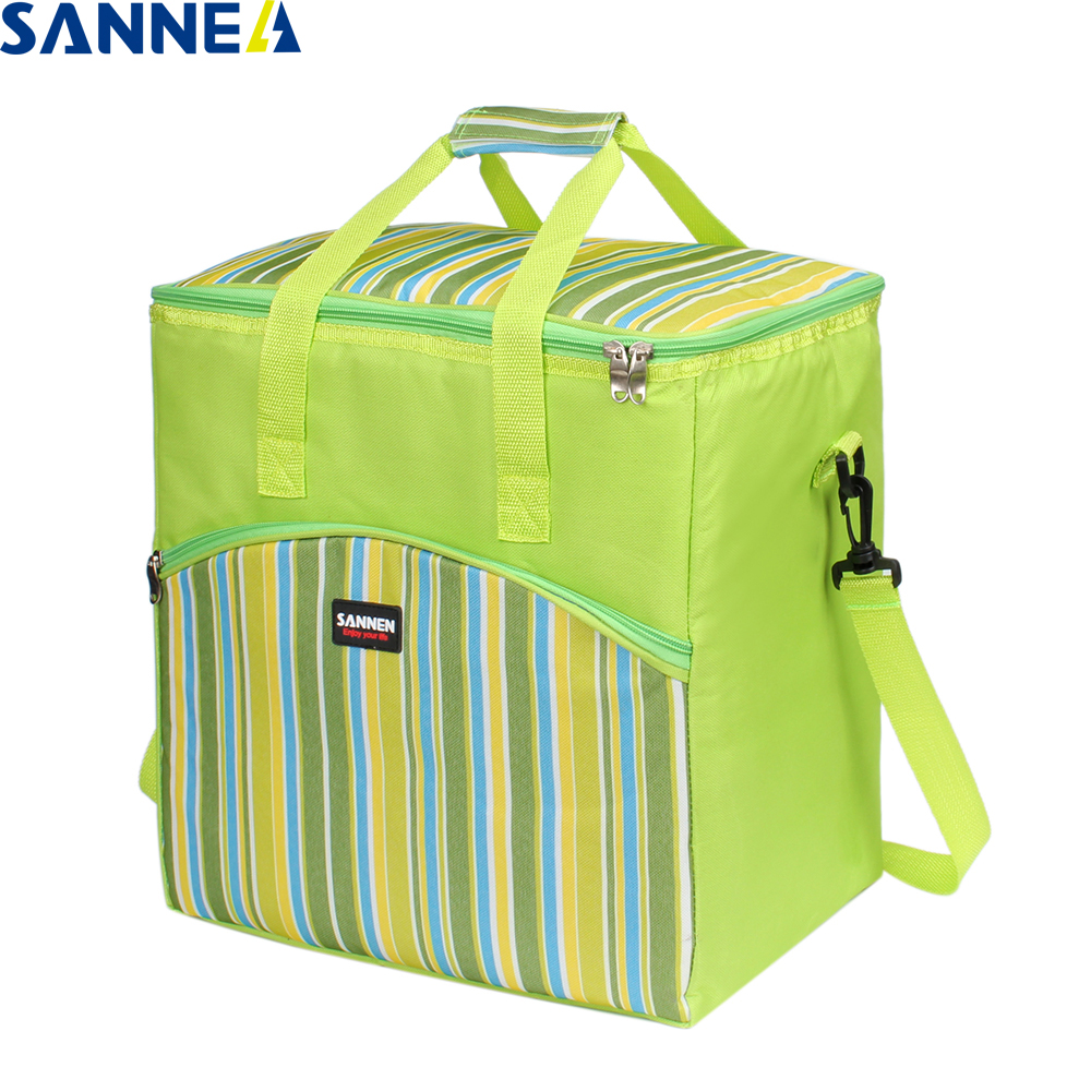 SANNE 29L Thermo Lunch Bags Food bag Picnic Bag Women Handbag Cooler Insulated Lunch Box Thermal&Lunch Box for family CL1900