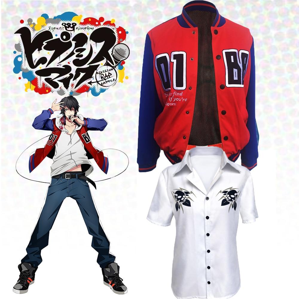 Hypnosis MIC Division Rap DRB Samatoki Aohitsugi Ichiro Yamada Cosplay Costumes For  Women Men Adults Kids Children With T-shirt