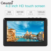 Cewaal 8GB 4 3 Inches HD Touch LCD Screen MP3 MP4 MP5 Media Video Music Player