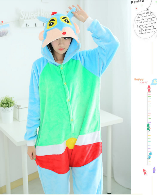 0479072ca14c Crayon Shin chan Cute Cosplay Suit Lovely Cartoon Boy Onesies ...
