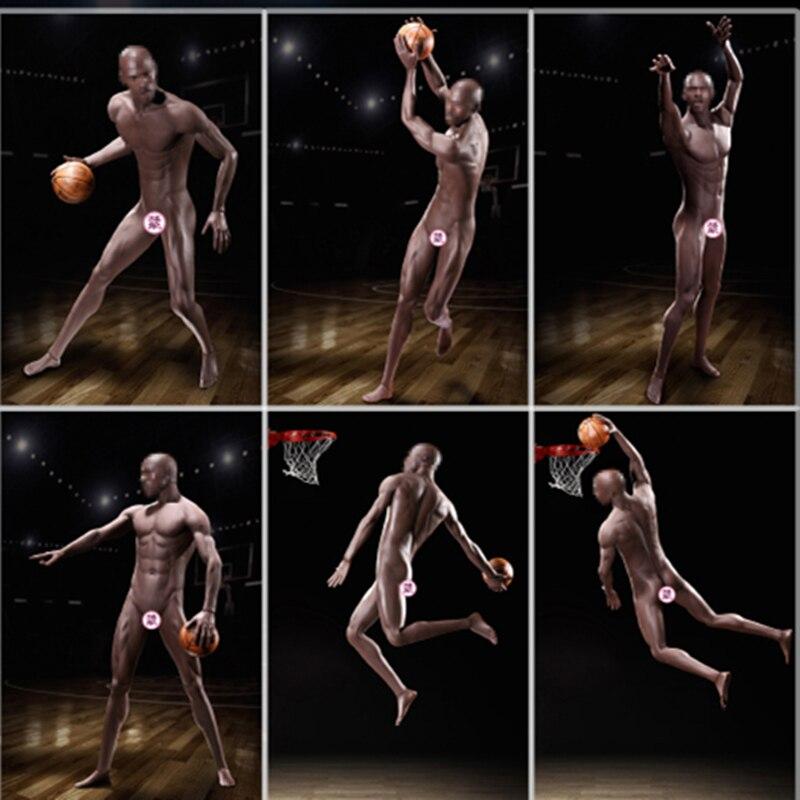 TBLeague PL2018-M36 Super-Flexible Male Black Skin Seamless Body for 1//6 Figures