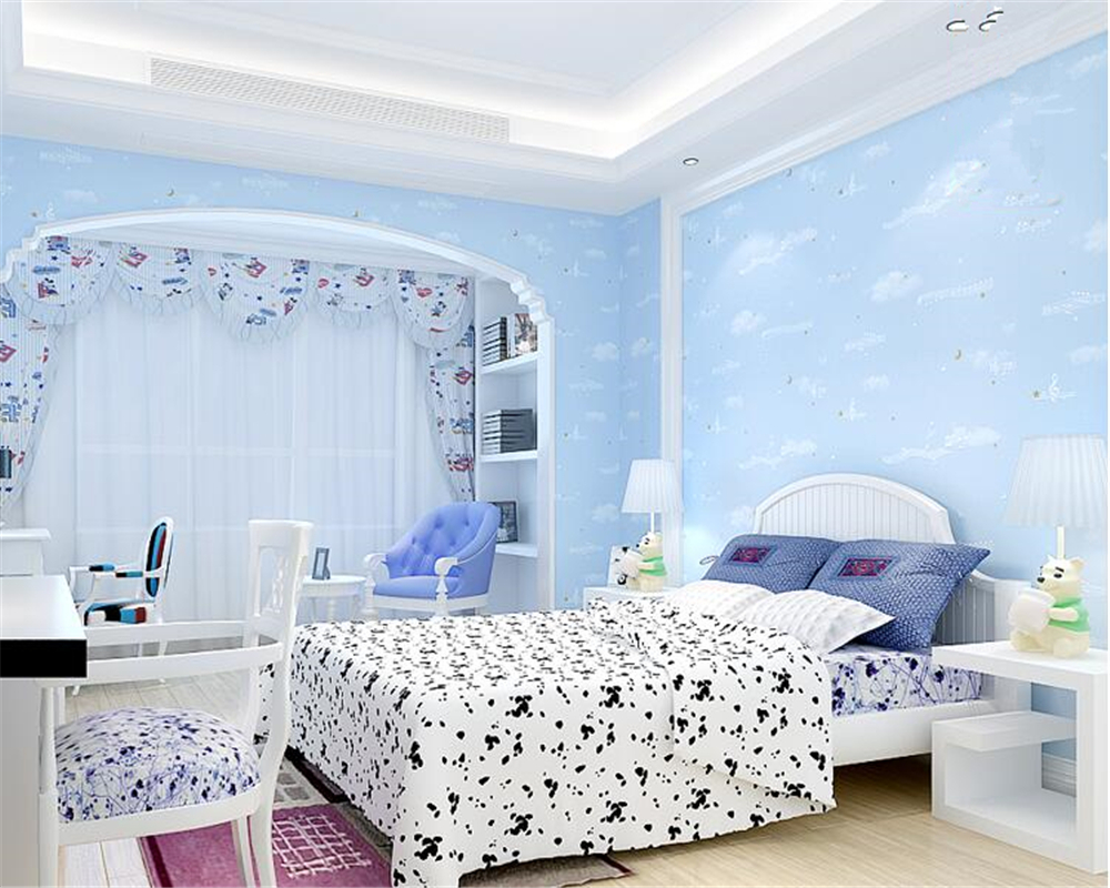 beibehang All-match modern minimalist children bedroom covered with nonwoven papel de parede wallpaper stars striped wall paper plaint slender striped pvc wallpaper pearly lustre finish for all modern match papel de parede waterproof