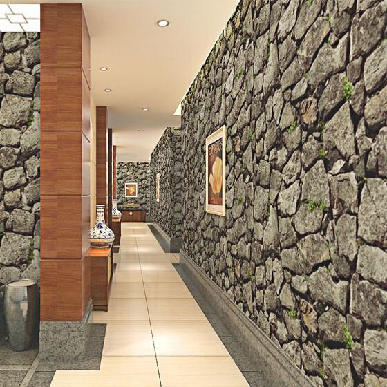 Revestimiento de paredes de vinilo compra lotes baratos for Rollos de papel pintado barato